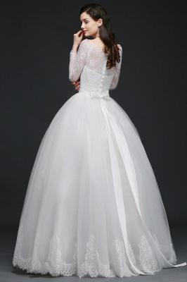 Schlichtes Hochzeitskleid mit Spitze | Prinzessin Brautkleider_8