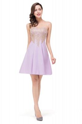 Lavender Cocktailkleider Kurz | Schlichtes Abendkleid_10