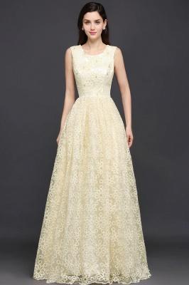Gelb Abendkleid Lang V Ausschnitt | Abiballkleider mit Spitze