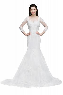 Schliches Brautkleid Meerjungfrau | Hochzeitskleider mit Spitze