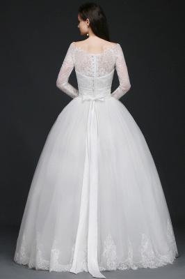 Schlichtes Hochzeitskleid mit Spitze | Prinzessin Brautkleider_3
