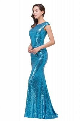 Blaue Abendkleider Lang Glitzer   Abiballkleider Günstig_4