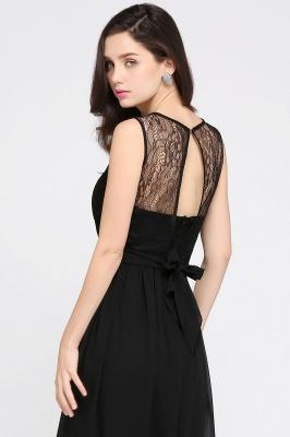 Schwarze Damenmoden Günstig | Abendkleider Lang Chiffon_12
