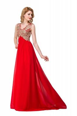 Abendkleid Lang V Ausschnitt | Rote Abiballkleider Günstig_5