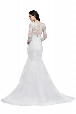 Schliches Brautkleid Meerjungfrau | Hochzeitskleider mit Spitze_3