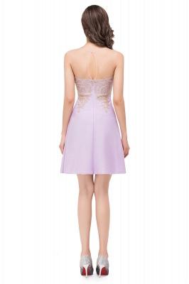 Lavender Cocktailkleider Kurz | Schlichtes Abendkleid_7