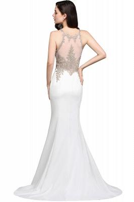 Abendkleider Lang Weiß | Abiballkleider mit Glitzer_4