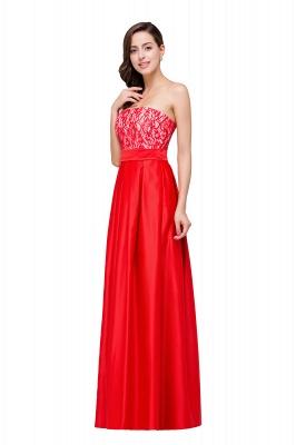 Rote Abendkleider mit Spitze   Abiballkleider Lang Günstig_5