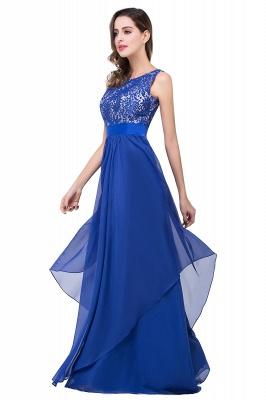 Schlichtes Abendkleid Blau | Abendkleider Lang Günstig_9