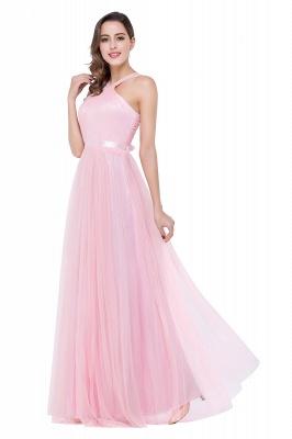 Abendkleid Lang Rosa | Schlichtes Abiballkleid Günstig_6