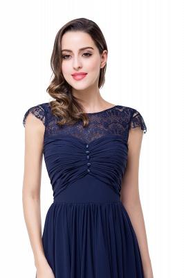 Schlichtes Abendkleid Navy Blau | Abiballkleider Lang Günstig_15