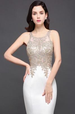 Abendkleider Lang Weiß | Abiballkleider mit Glitzer_6