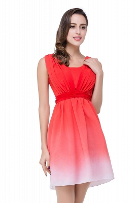 Schlichtes Abendkleid Rot | Cocktailkleider Kurz_5