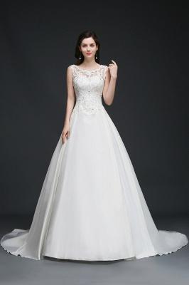 Schlichtes Brautkleid Satin | Prinzessin Hochzeitskleider Günstig_4