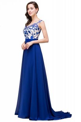 Blaue Abendkleider Lang Günstig | Chiffon Kleider Damenmoden_5