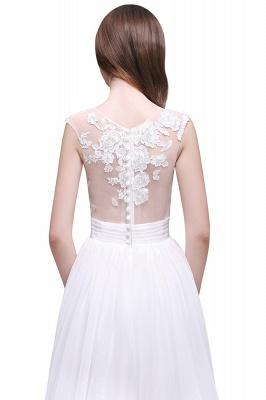 Schlichtes Brautkleid | Chiffon Hochzeitskleider mit Spitze_7
