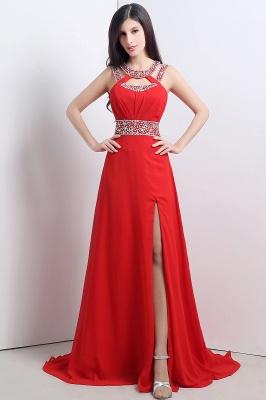 Abendkleider Lang Rot   Chiffon Kleider Abendmoden_1