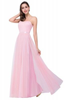 Schlichtes Abiballkleid | Abendkleider Lang Rosa_10