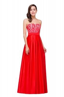 Rote Abendkleider mit Spitze   Abiballkleider Lang Günstig_6