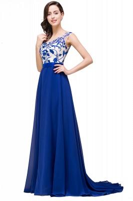 Blaue Abendkleider Lang Günstig | Chiffon Kleider Damenmoden_7