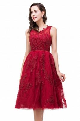 Rotes Cocktailkleider Kurz | Abendkleider mit Spitze_7