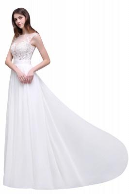 Schlichtes Brautkleid | Chiffon Hochzeitskleider mit Spitze_8