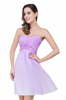 Lavender Cocktailkleider kurz | Schlichtes Abendkleid Online_10