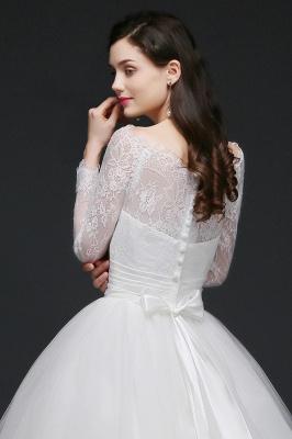 Schlichtes Hochzeitskleid mit Spitze | Prinzessin Brautkleider_7