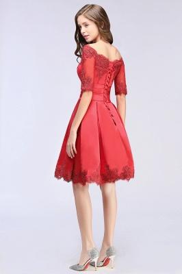 Rote Cocktailkleider Kurz | Abendkleider Günstig_7