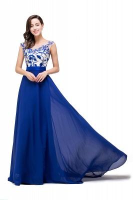 Blaue Abendkleider Lang Günstig | Chiffon Kleider Damenmoden_2