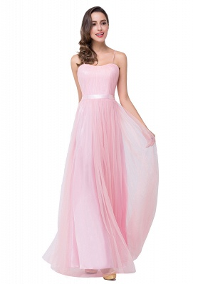 Schlichtes Abiballkleid | Abendkleider Lang Rosa_5
