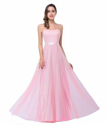 Schlichtes Abiballkleid | Abendkleider Lang Rosa_11