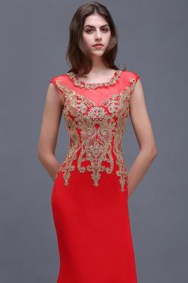 Rotes Abendkleid Lang   Günstige Abiballkleider mit Glitzer_5