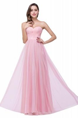 Schlichte Abiballkleider | Abendkleid Lang Rosa_8