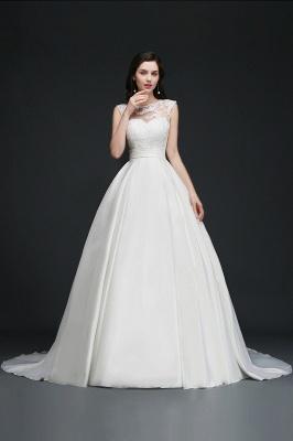 Schlichtes Hochzeitskleid | Brautkleider A Linie Online_9