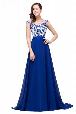 Blaue Abendkleider Lang Günstig | Chiffon Kleider Damenmoden_1