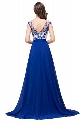 Blaue Abendkleider Lang Günstig | Chiffon Kleider Damenmoden_3