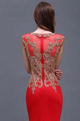Rotes Abendkleid Lang   Günstige Abiballkleider mit Glitzer_4