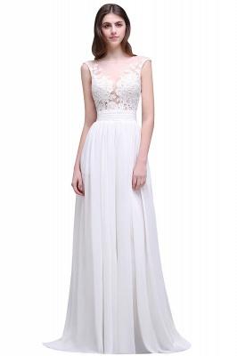 Schlichtes Brautkleid | Chiffon Hochzeitskleider mit Spitze