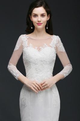 Schliches Brautkleid Meerjungfrau | Hochzeitskleider mit Spitze_5