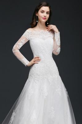 Elegante Hochzeitskleider mit Ärmel   Brautkleid A Linie_6