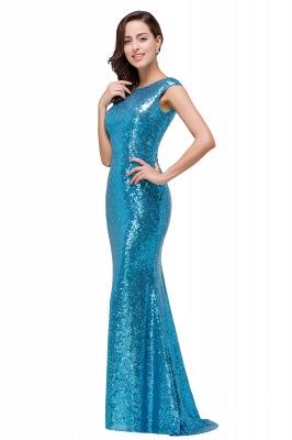 Blaue Abendkleider Lang Glitzer   Abiballkleider Günstig_5