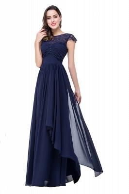 Schlichtes Abendkleid Navy Blau | Abiballkleider Lang Günstig_7