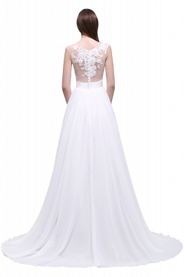 Schlichtes Brautkleid | Chiffon Hochzeitskleider mit Spitze_6