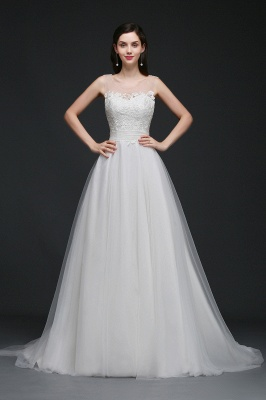 Schlichtes Brautkleid Online | Hochzeitskleid A Linie_3