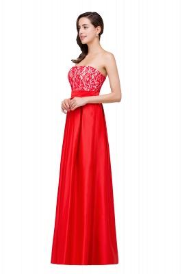 Rote Abendkleider mit Spitze   Abiballkleider Lang Günstig_4