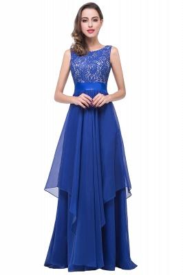 Schlichtes Abendkleid Blau | Abendkleider Lang Günstig_5