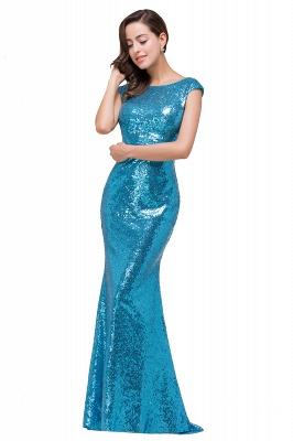 Blaue Abendkleider Lang Glitzer   Abiballkleider Günstig_3