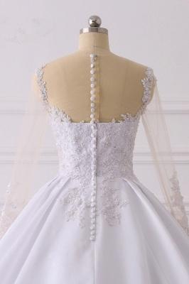 Ausgefallene Hochzeitskleider Lange Ärmel | Brautkleid A Linie_6