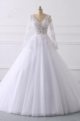 Wunderschöne Hochzeitskleid Langarm | A Linie Brautkleider Spitze_1